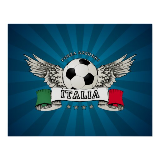 Italy Soccer National Team Supporter poster