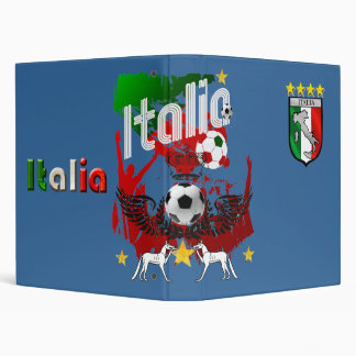 Italy Soccer T-shirts and gifts ideas 3 Ring Binder