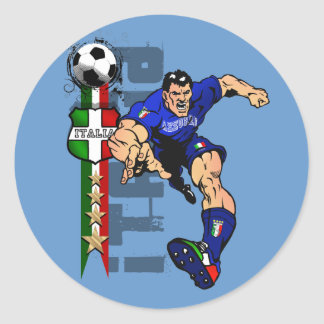 Italy Soccer T-shirts and gifts ideas Classic Round Sticker