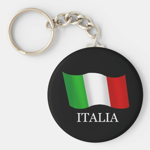 Italy Soccer T-shirts and gifts ideas Basic Round Button Keychain