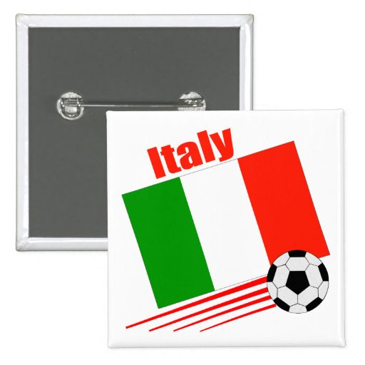 Italy Soccer Team 2 Inch Square Button