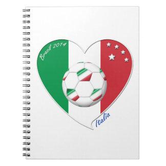 """Italy Soccer Team. Fútbol de """"ITALIA"""" 2014 Libros De Apuntes Con Espiral"""