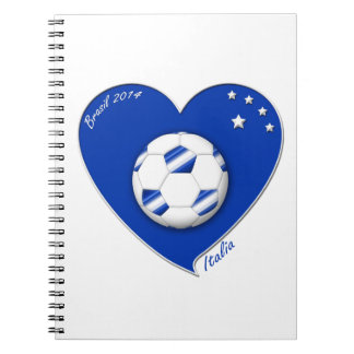 "Italy Soccer Team. Fútbol de ""ITALIA"" 2014 Libretas Espirales"