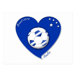 "Italy Soccer Team. Fútbol de ""ITALIA"" 2014 Postal"