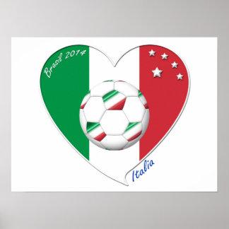 "Italy Soccer Team. Fútbol de ""ITALIA"" 2014 Póster"