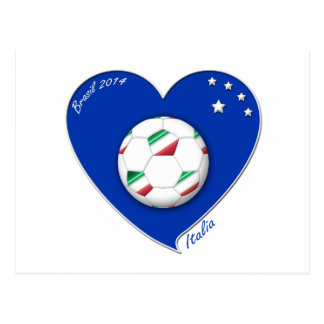 "Italy Soccer Team. Fútbol de ""ITALIA"" 2014 Tarjeta Postal"
