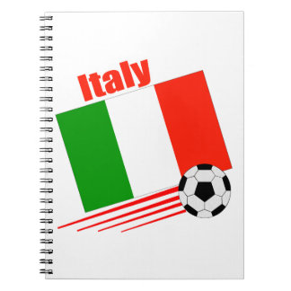 Italy Soccer Team Spiral Note Books
