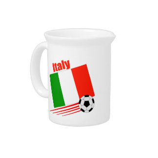 Italy Soccer Team Drink Pitcher