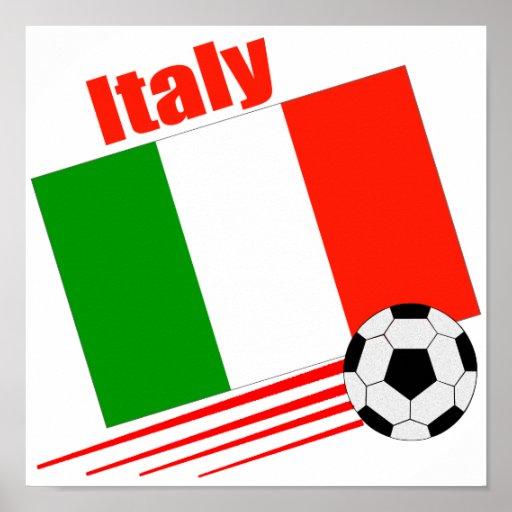 Italy Soccer Team Poster