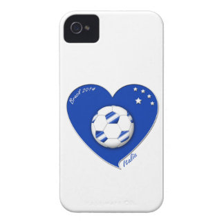 """Italy Soccer Team. Soccer of """"ITALY"""" 2014 Case-Mate iPhone 4 Case"""
