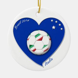 "Italy Soccer Team. Soccer of ""ITALY"" 2014 Ceramic Ornament"