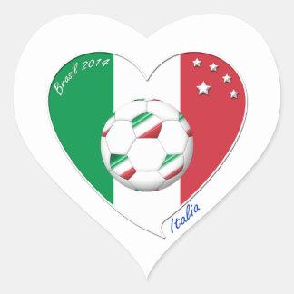 "Italy Soccer Team. Soccer of ""ITALY"" 2014 Heart Sticker"