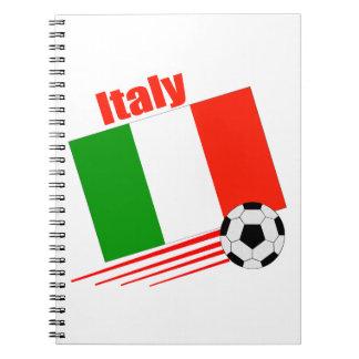 Italy Soccer Team Spiral Notebook