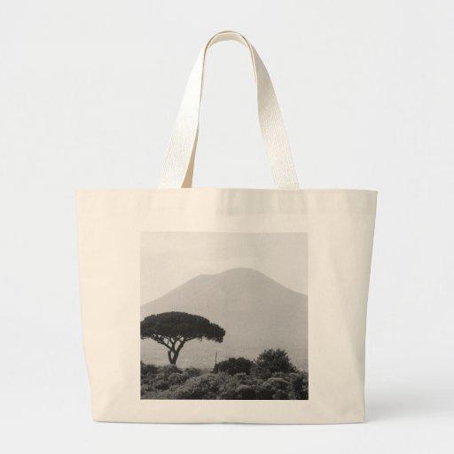 Italy Souvenir from Mount Vesuvius Volcano Canvas Bags
