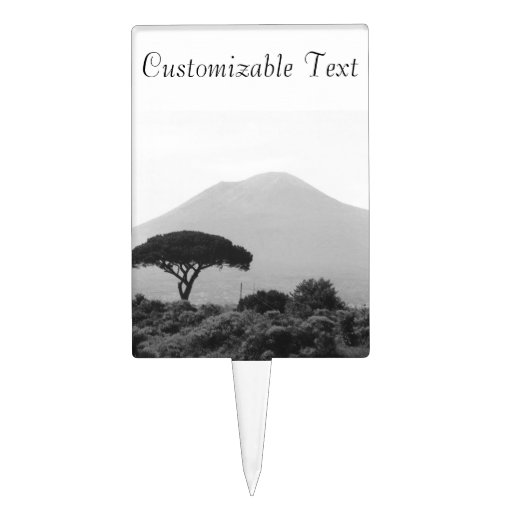 Italy Souvenir from Mount Vesuvius Volcano Cake Toppers