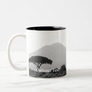 Italy Souvenir from Mount Vesuvius Volcano Two-Tone Coffee Mug
