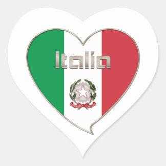 Italy Souvenir ITALIA BANDERA nacional en corazón Pegatina De Corazon Personalizadas