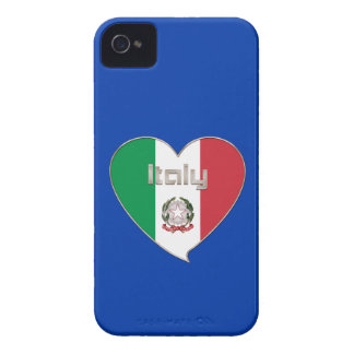 ITALY souvenir of heart and the flag tricolor iPhone 4 Covers