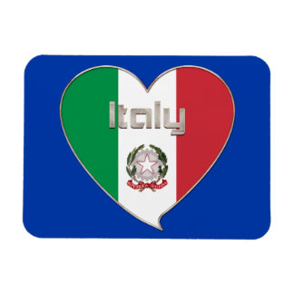 ITALY souvenir of heart and the flag tricolor Vinyl Magnets