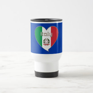 ITALY souvenir of heart and the flag tricolor Travel Mug