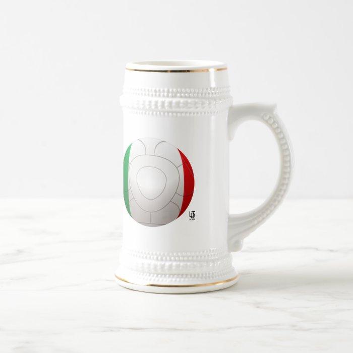 Italy - Squadra Azzurra Football Beer Stein
