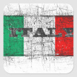 italy square stickers