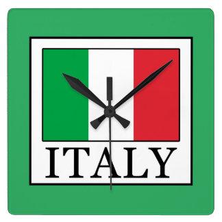 Italy Square Wall Clock