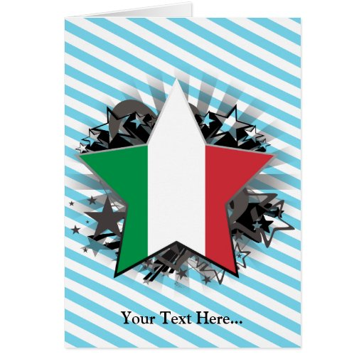 Italy Star Greeting Cards