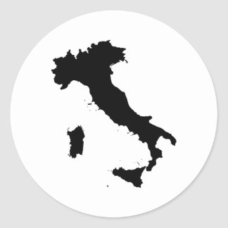 Italy Round Stickers