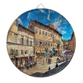 Italy Streets Dartboard With Darts