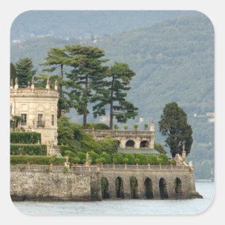 Italy, Stresa, Lake Maggiore, Isola Bella 2 Square Stickers