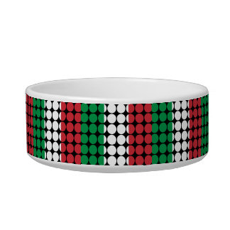 Italy Stylish Girly Chic : Polka Dot Italian Flag Bowl