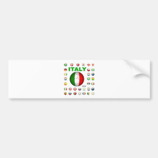 Italy  T-Shirt Car Bumper Sticker