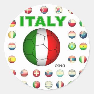 Italy  T-Shirt Classic Round Sticker