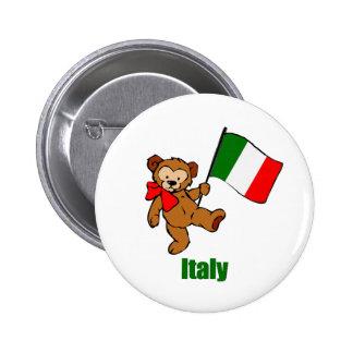 Italy Teddy Bear Buttons