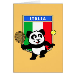 Greeting Card with Italian Tennis Panda design
