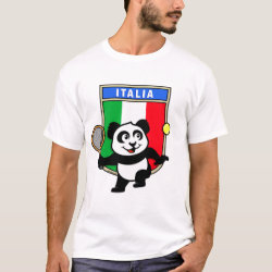Italian Tennis Panda Men's Basic T-Shirt