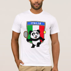 Men's Basic American Apparel T-Shirt with Italian Tennis Panda design