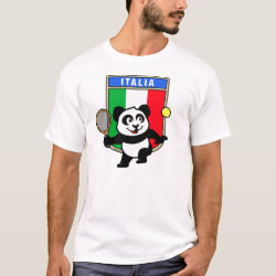 Men's Basic T-Shirt with Italian Tennis Panda design