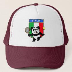 Trucker Hat with Italian Tennis Panda design