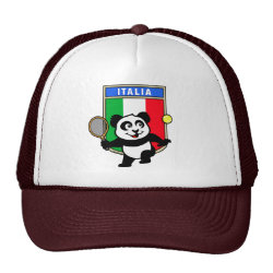 Trucker Hat with Italian Tennis Panda design