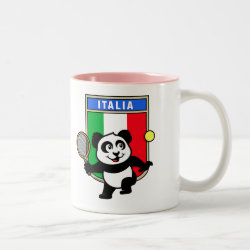 Two-Tone Mug with Italian Tennis Panda design