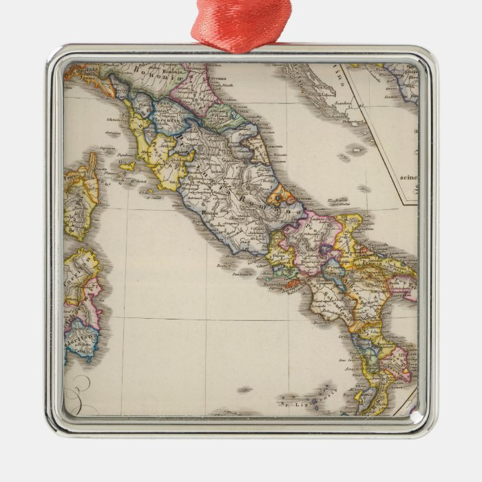 Italy to his ecclesiastical division metal ornament