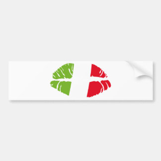 italy trikolore bumper sticker