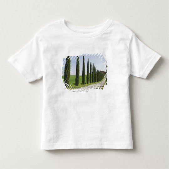 Italy, Tuscany. Cypress trees line driveway to Toddler T-shirt