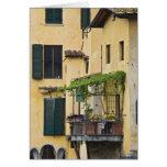 Italy, Tuscany, Florence. Balcony and Card