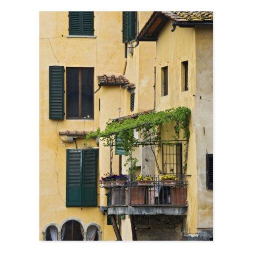 Italy, Tuscany, Florence. Balcony and Postcard
