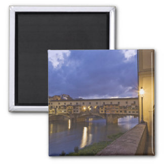 Italy, Tuscany, Florence. Ponte Vecchio 2 Inch Square Magnet