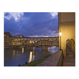Italy, Tuscany, Florence. Ponte Vecchio Postcard