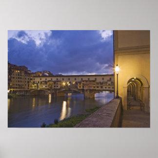 Italy, Tuscany, Florence. Ponte Vecchio Poster